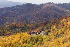 Fall foliage Blowing Rock overlook, Blue Ridge Parkway Royalty Free Stock Photos