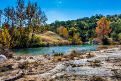 Fall Foliage on a Crystal Clear Creek in Texas Stock Images