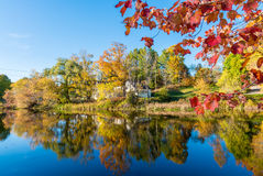 Fall foliage of New England, USA.  Stock Photo