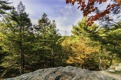 Fall foliage Purgatory Chasm. Fall foliage from rocky high point at Purgatory Chasm Royalty Free Stock Image