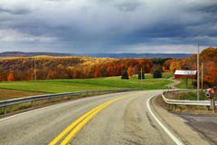 Fall foliage road trip Stock Photography