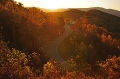 Fall foliage Skyline overlook, Blue Ridge Parkway Stock Image