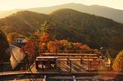 Fall foliage Skyline overlook, Blue Ridge Parkway Royalty Free Stock Photo