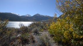 Fall Foliage Twin Lakes Sunny Day stock footage