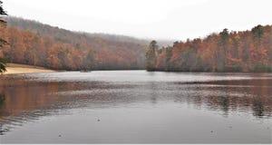 Hanging Rock State Park. Fall foliage under a heavy fog at Hanging Rock State Park near Danbury, North Carolina Stock Photography
