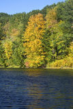 Fall foliage on the Westfield River, Massachusetts. Stock Photos