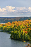 Fall forest and lake Stock Image