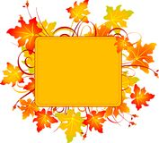 Fall frame Royalty Free Stock Images