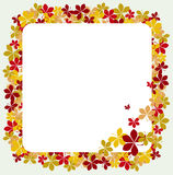 Fall frame. Vector illustration of fall frame Stock Image