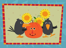 Fall Friends With Background Stock Photo