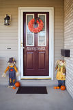 Fall front door Stock Images