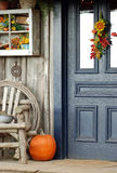 Fall Front Porch Stock Images