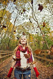 Fall fun girl Stock Photos