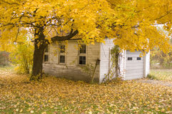 Fall Garage Scene Royalty Free Stock Images