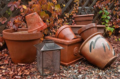 Free Fall Garden Pots Royalty Free Stock Photo - 19975165