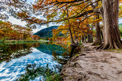 Fall at Garner State Park, Texas Royalty Free Stock Images