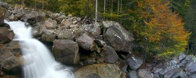 Fall in Gave du Marcadau, Cauterets, pont de Espagne, France. Royalty Free Stock Photography