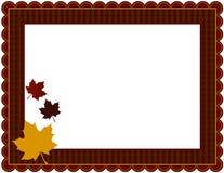Fall-Gingham-Rahmen Stockfoto