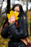 Fall girl Stock Photo