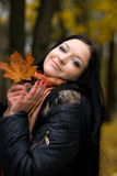 Fall girl Stock Photos
