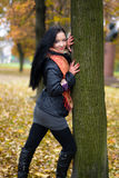 Fall girl Stock Images