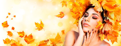Fall Girl - Beauty Model Woman Royalty Free Stock Photo