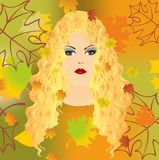 Fall girl, Royalty Free Stock Photos
