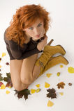 The  fall girl from top Royalty Free Stock Image