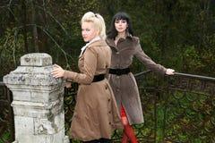 fall girls Στοκ Φωτογραφίες