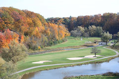 Fall at the Golf Course Royalty Free Stock Photography