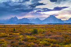 Fall in Grand Tetons Royalty Free Stock Photos