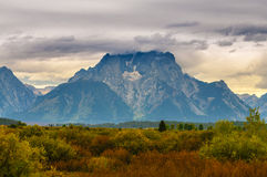 Fall in Grant Tetons Stock Images