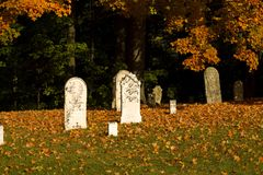 Fall graveyard Stock Images