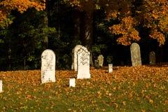 Fall graveyard Stock Images