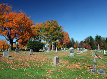 Fall graveyard Stock Photography