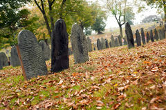Fall graveyard Royalty Free Stock Image