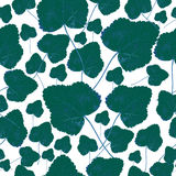 Fall green leaves, seamless pattern Stock Photos