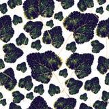Fall green leaves, seamless pattern. Fall green leaves on a white background, seamless pattern Stock Illustration