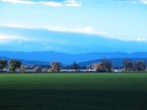 fall green meadow Στοκ Φωτογραφία
