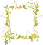 Fall Greens and Browns Border. Fall green and brown leaf border on white background Royalty Free Stock Image