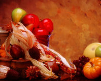 Fall Harvest. Fall fruit and vegetables Stock Images