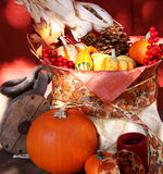 Fall Harvest Basket stock photo