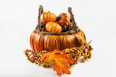Fall Harvest Basket Stock Images