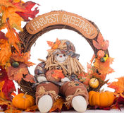 Fall Harvest Wreath Stock Images