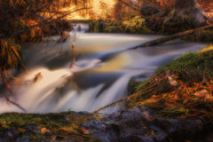 Fall at Hat Creek. Hat Creek in the Fall, A long exposure photograph slowing the water in the river Royalty Free Stock Images