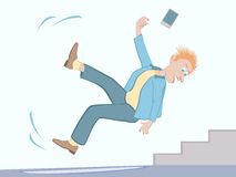 Free Fall Hazards - Watch For Ice Royalty Free Stock Photo - 49988155