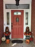 Fall is Here. Front Door Fall Decoration Royalty Free Stock Image