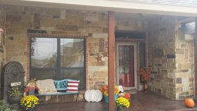 Fall is porch decor Royalty Free Stock Photos