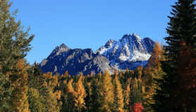 Fall in the High Tatras Mountains. Slovakia royalty free stock images