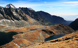 Fall in the High Tatras Mountains. Slovakia Hincovo lakes royalty free stock photos
